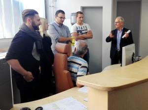 Xmatik-Geschäftsführer Alfons Hollenstein und sein Team